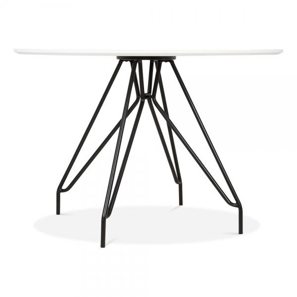 Black Mode Icon C1 White Copper . Gold . Chrome . Black Metal Leg . Dark Wood . Oak Dining Table 110cm - Pebble & Leaf HomeFurniture