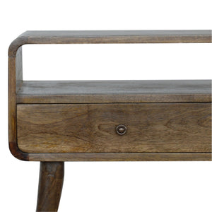 Nordic Curve Console Hall Table Solid Eco Friendly Mango Wood Dark, Light Oak or Grey