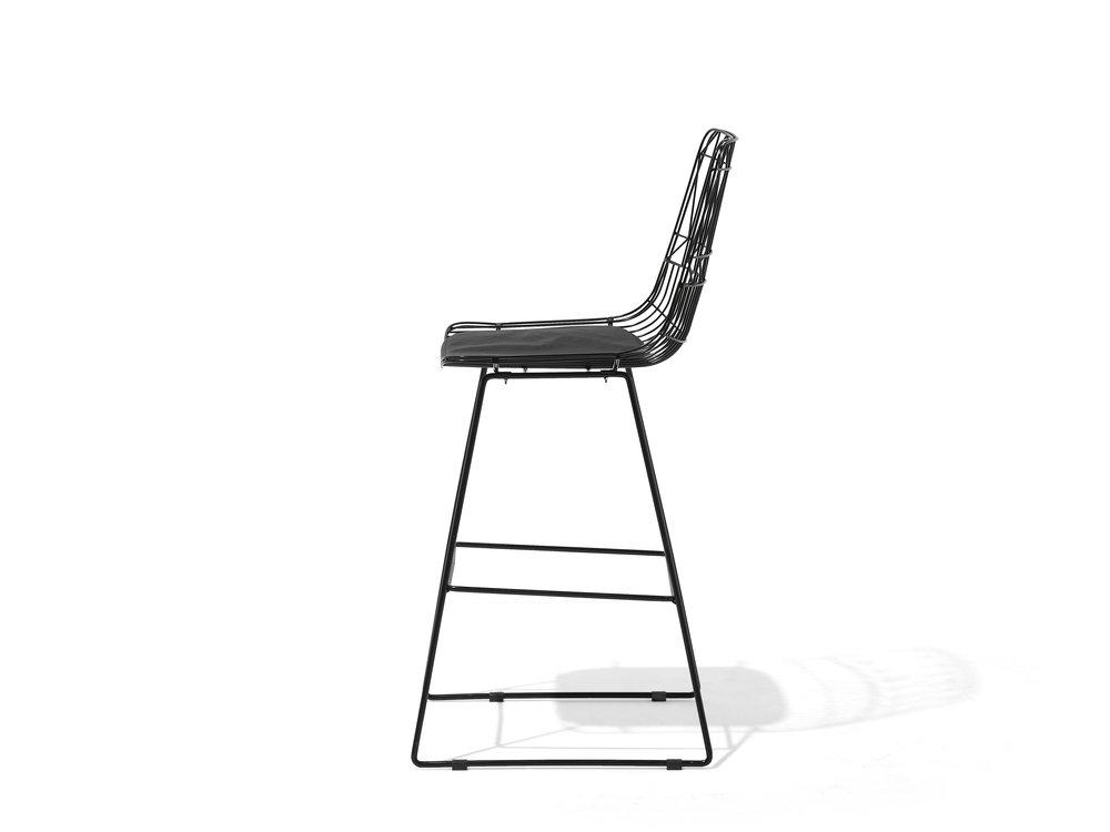 Black Bar Chair Gold . Black . Silver Orion Geometric Metal Counter Height 75 cm Bar Stool Chair High Back - Pebble & Leaf Homefurniture