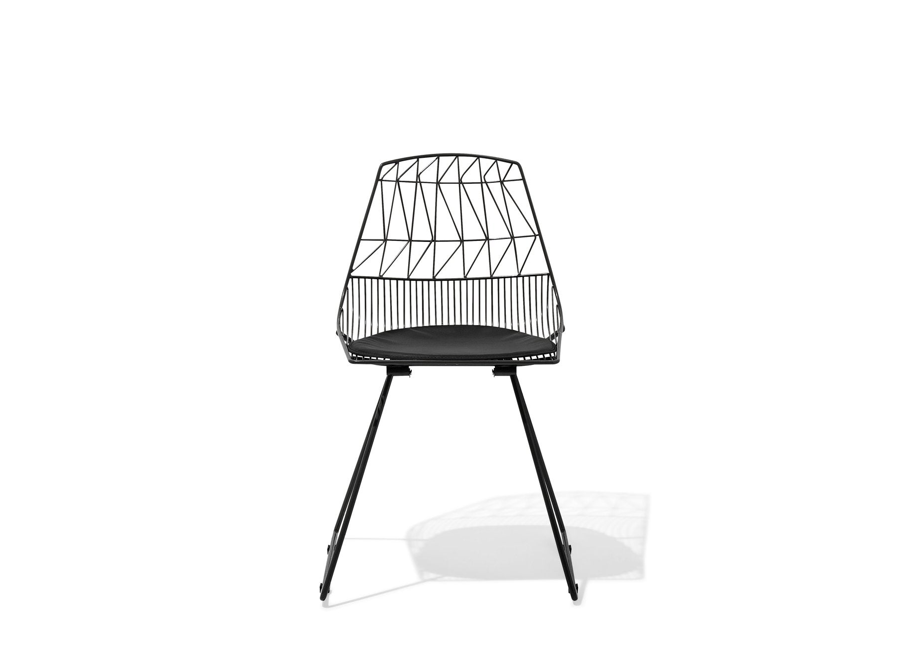 Black Dining Chair Gold . Black . Silver Orion Geometric Metal Counter Height 75 cm Bar Stool Chair High Back - Pebble & Leaf Homefurniture