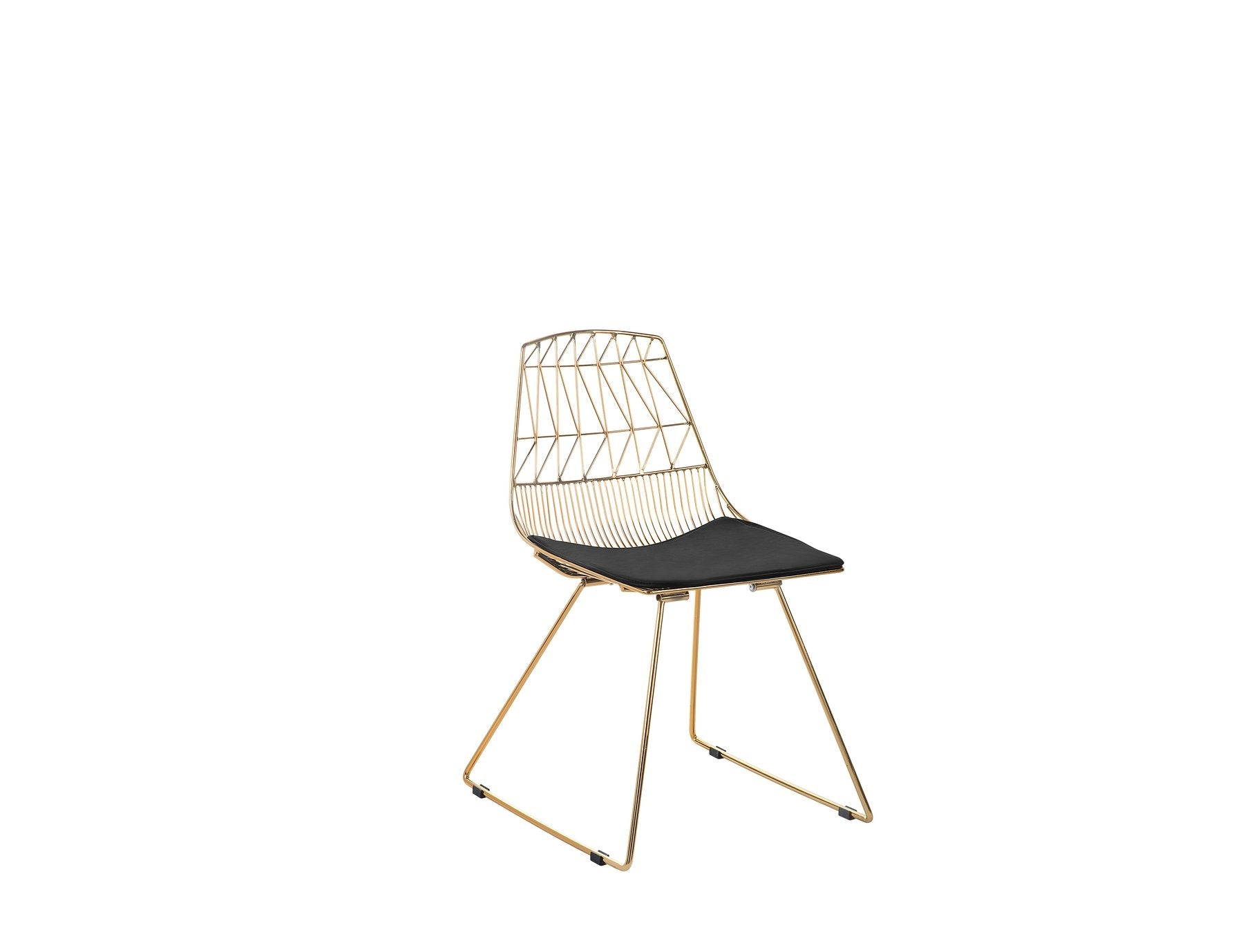 Golden Brass Dining Chair Gold . Black . Silver Orion Geometric Metal Counter Height 75 cm Bar Stool Chair High Back - Pebble & Leaf Homefurniture