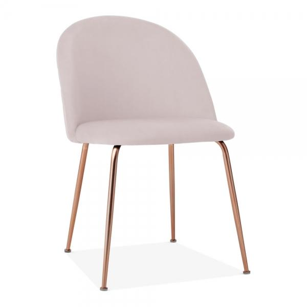 Powder Pink Blush Luxe Diamond Velvet Dining Chair Gold Brass - Copper - Black Leg - Pebble & Leaf HomeFurniture