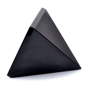 Natural Obsidian Quartz Crystal Pyramid - Pebble & Leaf Ltd