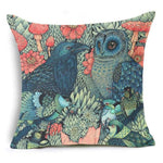 450mm*450mm / Teal Blue Red Birds Eclectic Mix of Art Cushion Covers - Pebble & Leaf HomeCushions / Blankets
