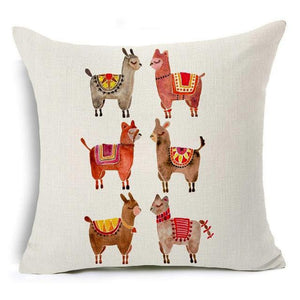 450mm*450mm / Alpaca Eclectic Mix of Art Cushion Covers - Pebble & Leaf HomeCushions / Blankets