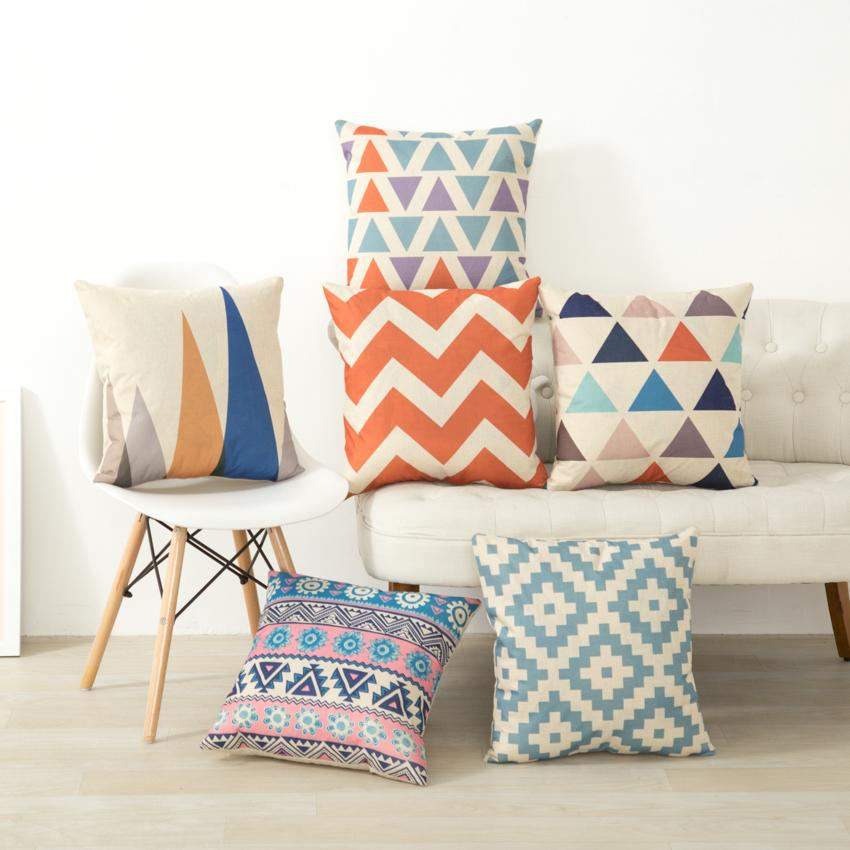 Eclectic Mix Bright Geometric Cushion Covers - Pebble & Leaf HomeCushions / Blankets