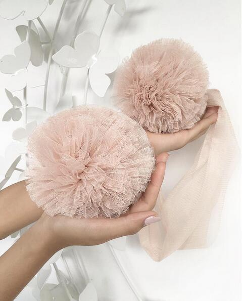 Blush Pink Large Tulle Pom Pom Garland FREE OFFER!!!! - Pebble & Leaf HomeWall Art