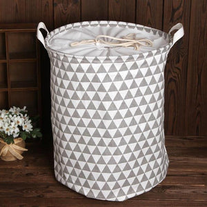 Fabric Drawstring Laundry Bins - Pebble & Leaf Ltd