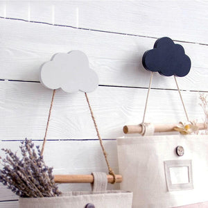 Wooden Cloud Star Heart Shape Wall Hook - Pebble & Leaf LtdStorage