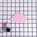 Pink Cloud Wooden Cloud Star Heart Shape Wall Hook - Pebble & Leaf LtdStorage