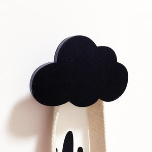 Black Cloud Wooden Cloud Star Heart Shape Wall Hook - Pebble & Leaf LtdStorage