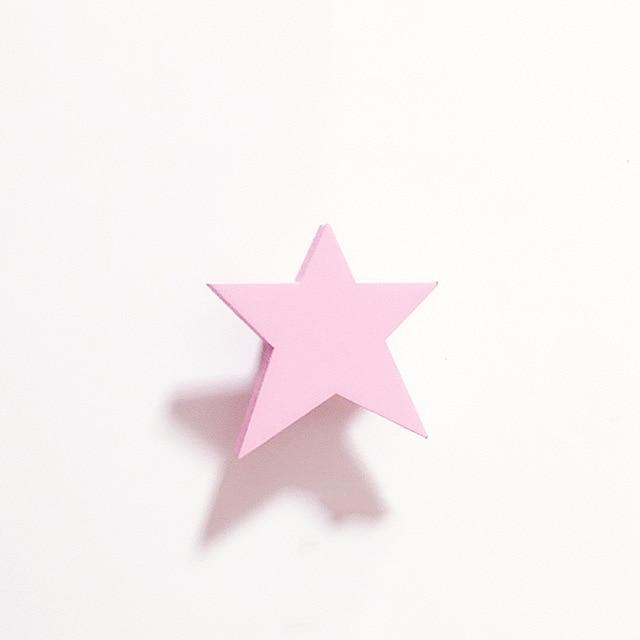 Pink Star Wooden Cloud Star Heart Shape Wall Hook - Pebble & Leaf LtdStorage