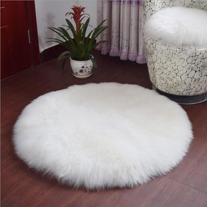 Soft Fluffy Round Rug Chair Cover - Pebble & Leaf Ltd