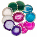 Agate Quartz Geode Slice / Coasters Mixed Colours - Pebble & Leaf HomeCoasters