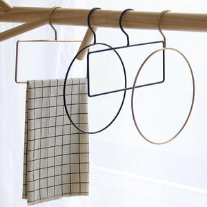 Rectangle-black Gold Iron Art Scarf Hanger - Pebble & Leaf HomeStorage
