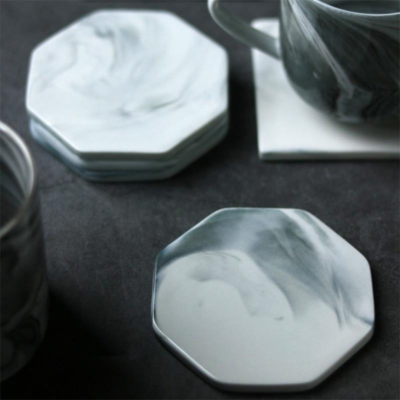 Grey White Marble Coaster - Pebble & Leaf HomeTableware