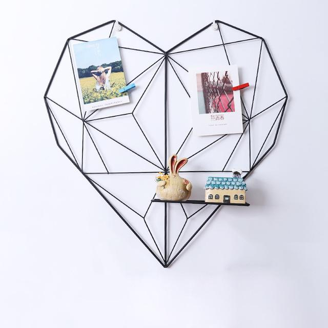 Black FREE OFFER! Nordic Hanging Heart Photo Memo Board - Pebble & Leaf HomeNew Nordic / Scandi