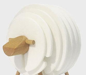 White Sheep Nordic Sheep Drink Coasters Non Slip - Pebble & Leaf HomeNew Nordic