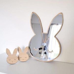Bunny Nordic Mirrors Animals and Bows - Pebble & Leaf HomeArt