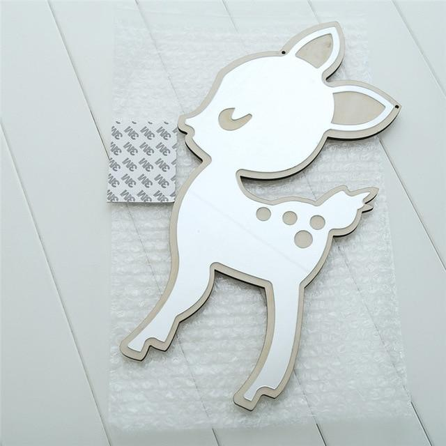 Deer Baby Nordic Mirrors Animals and Bows - Pebble & Leaf HomeArt