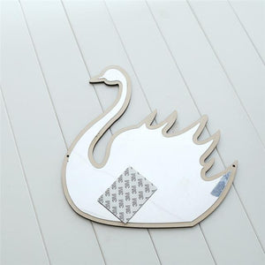 Swan Nordic Mirrors Animals and Bows - Pebble & Leaf HomeArt