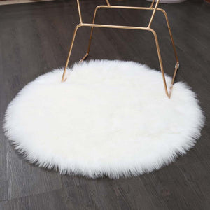 Luxury Round Faux Sheepskin Chair Cover or Rug - Pebble & Leaf Home