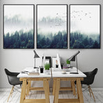 Set of 3 Canvas Nordic Forest Landscape - Pebble & Leaf Ltd