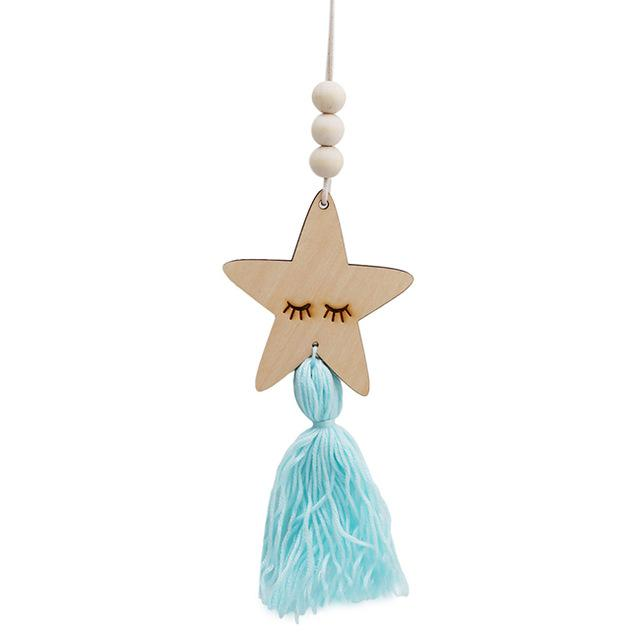 Blue Nordic Wooden Star with Tassel FREE OFFER! - Pebble & Leaf HomeHome Decor