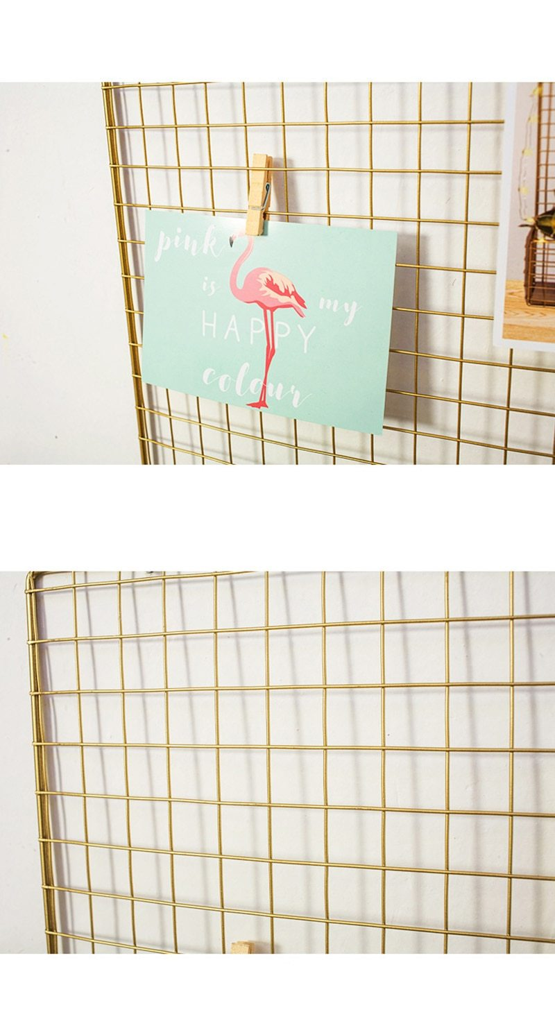 Gold Wire Grid Photo Display Memo Board with Shelf + FREE OFFER!!! - Pebble & Leaf HomeStorage
