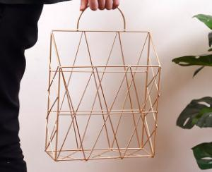 Gold Metal Wire Hanging Magazine Gold Storage Rack - Pebble & Leaf HomeStorage