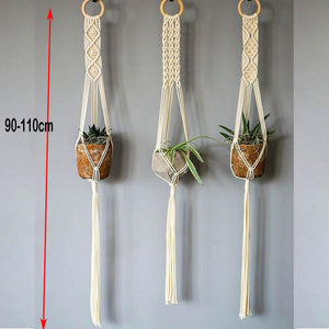 Handmade Macrame Plant Hanger - Pebble & Leaf HomeFlowers and Plants