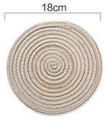 Round Woven Coasters and Chargers - Pebble & Leaf Ltd