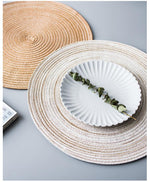 Round Woven Coasters and Chargers - Best Price UK Pebble & Leaf Home