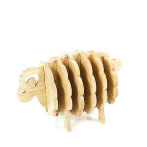 Wooden Ram Sheep Nordic Sheep Drink Coasters Non Slip - Pebble & Leaf HomeNew Nordic