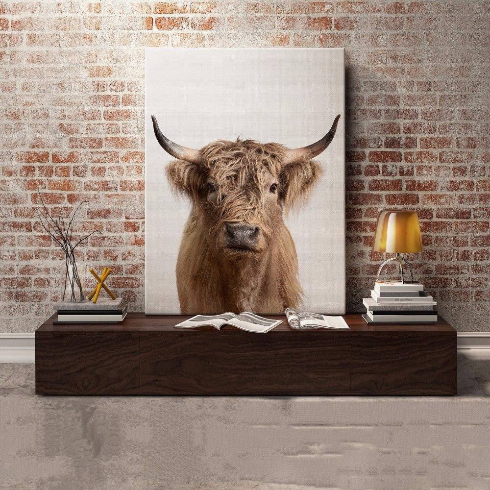 Highland Cow Canvas Art - Pebble & Leaf HomeArt