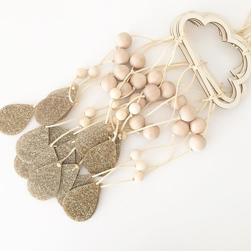 Wooden Clouds, Planets and Stars Dream Catcher - Pebble & Leaf Ltd