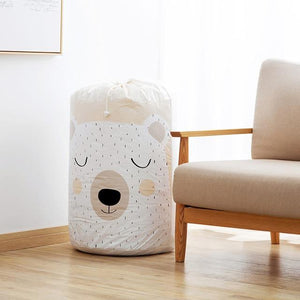 BEAR / China Draw String Mold Resistant Laundry / Storage Bag - Pebble & Leaf HomeStorage