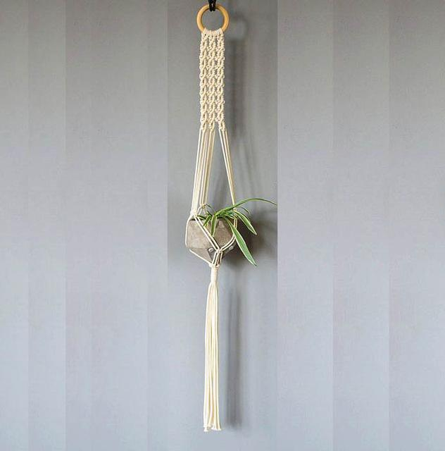 2 / 100cm Handmade Macrame Plant Hanger - Pebble & Leaf HomeFlowers and Plants