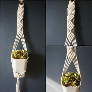 5 / 100cm Handmade Macrame Plant Hanger - Pebble & Leaf HomeFlowers and Plants