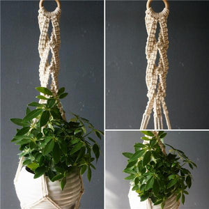 6 / 100cm Handmade Macrame Plant Hanger - Pebble & Leaf HomeFlowers and Plants