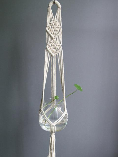 7 / 100cm Handmade Macrame Plant Hanger - Pebble & Leaf HomeFlowers and Plants