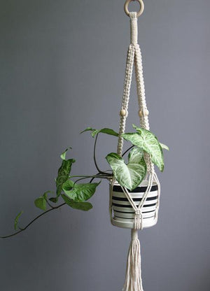 8 / 100cm Handmade Macrame Plant Hanger - Pebble & Leaf HomeFlowers and Plants