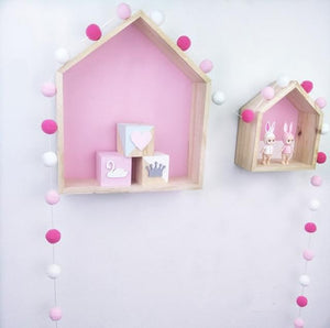 Pinks and White FREE OFFER!!!! Pom Pom Garland Handmade - Pebble & Leaf HomeWall Art