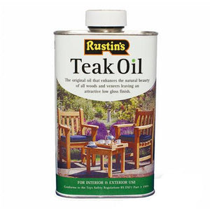 1 Litre Wood Treatment Teak Oil Suitable Outdoor Use Teak Oil Seal, Protect Enhance Bar Wood Rustins Standard or T&G Food Safe Oil - Pebble & Leaf LtdFurniture