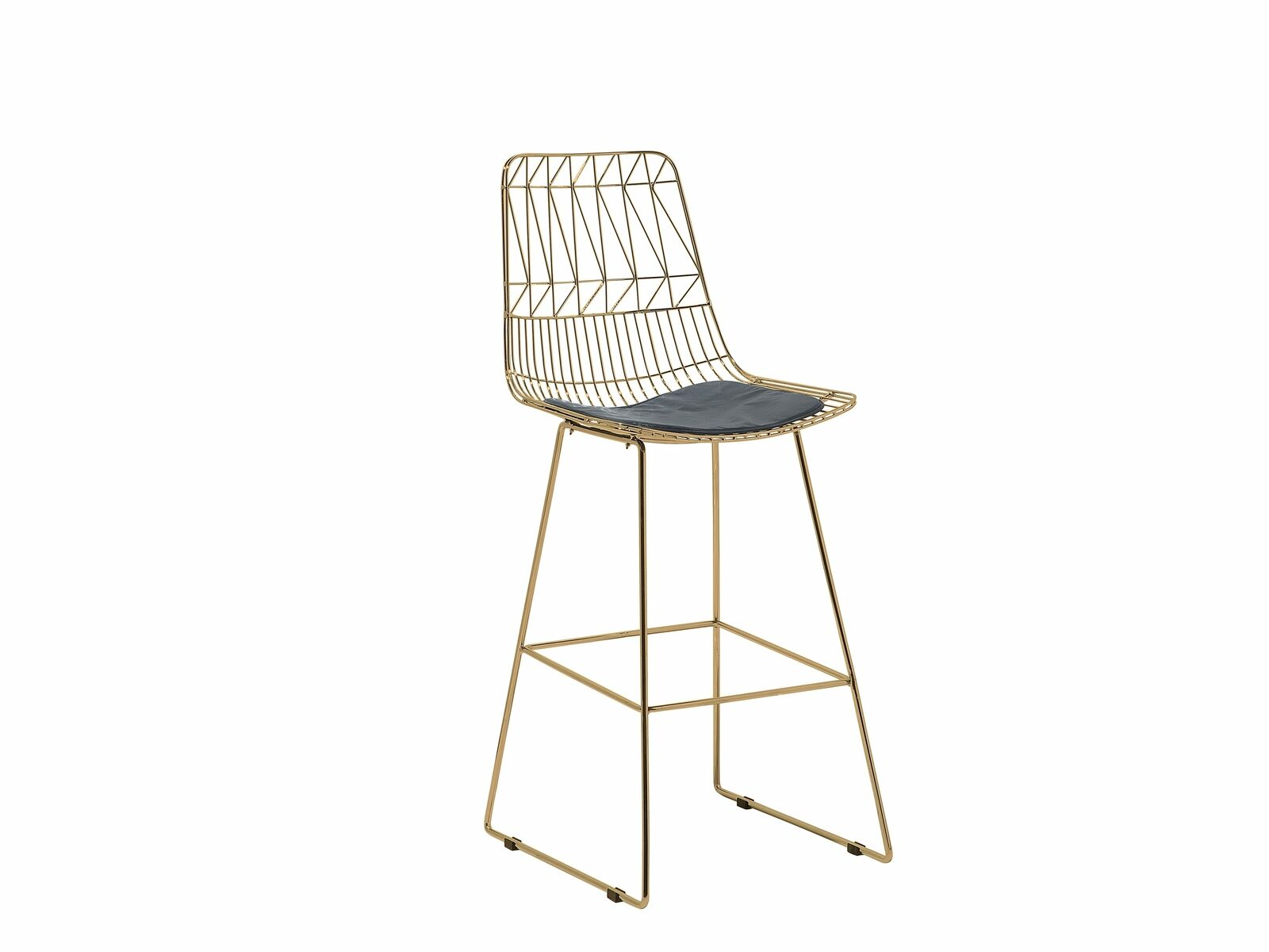 Golden Brass Bar Chair Gold . Black . Silver Orion Geometric Metal Counter Height 75 cm Bar Stool Chair High Back - Pebble & Leaf Homefurniture