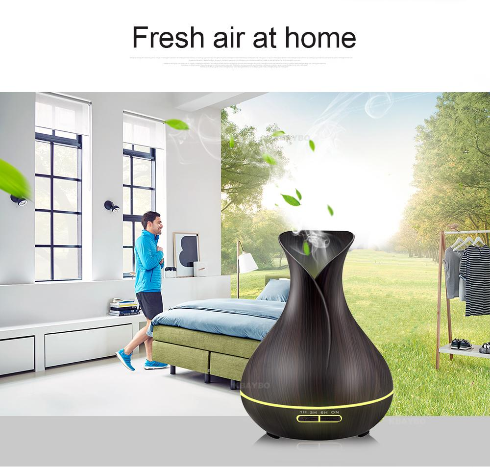 Dark Wood Top Spray FREE OFFER! Ultrasonic Aroma Essential Oil Diffuser Air Purifier Night Light - Pebble & Leaf HomeHome Decor