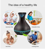 FREE OFFER! Ultrasonic Aroma Essential Oil Diffuser Air Purifier Night Light - Pebble & Leaf HomeHome Decor