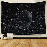 200 CM X 150 CM Huge Moon Fabric Wall Hanging / Bed / Sofa Cover - Pebble & Leaf HomeArt