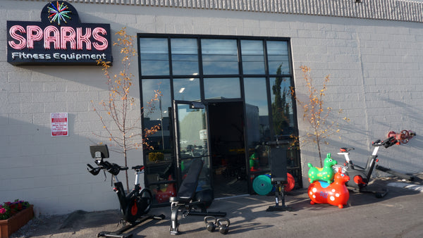 Sparks Fitness Equipment Showroom from the outside