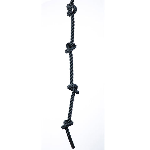 knotted climbing rope | black